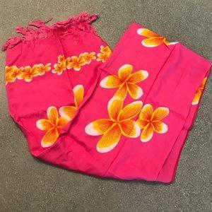Pink/yellow sarong